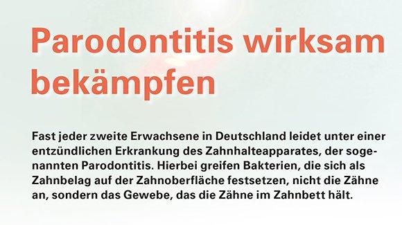 Paradontitis wirksam bekämpfen