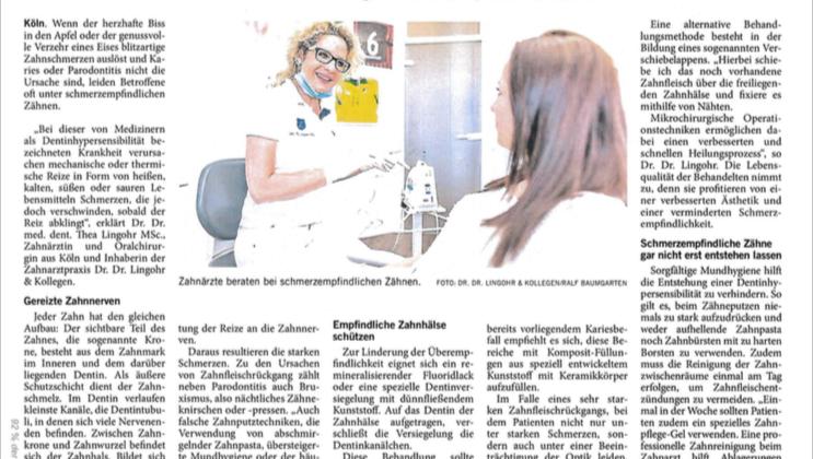 """Zahnärztin Dr. Lingohr in Köln – """"Wenn jeder Biss schmerzt"""""""
